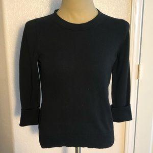 BR versatile black knit top